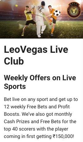 LeoVegas Live Betting Club