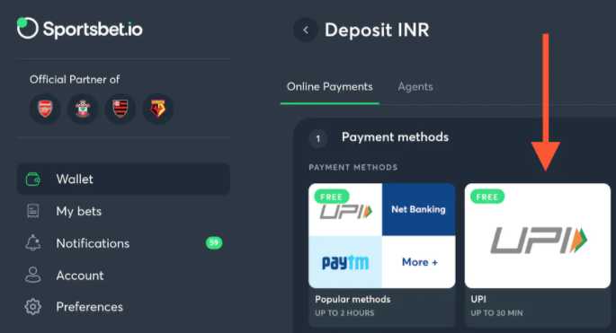sportsbet.io indian rupees